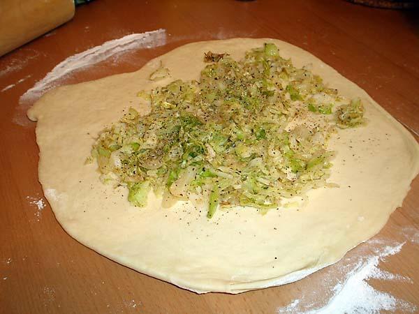 Пирог со свежей капустой рецепт пошагово