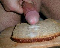 Сперма на бутерброде