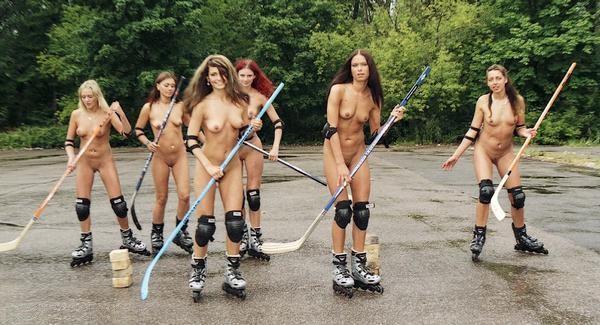 Голые спортсменки и голый спорт  эротика в спорте на фото