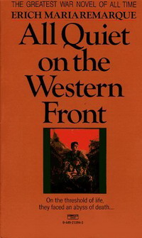 all quiet on the western front thesis Think about the concept of enemies in war whom do paul and his friends regard as their enemies check out the whole all quiet on the western front essay.