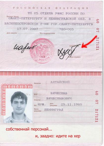 Основные приколы в паспортных фото, фамилиях, ляпах при заполнении и