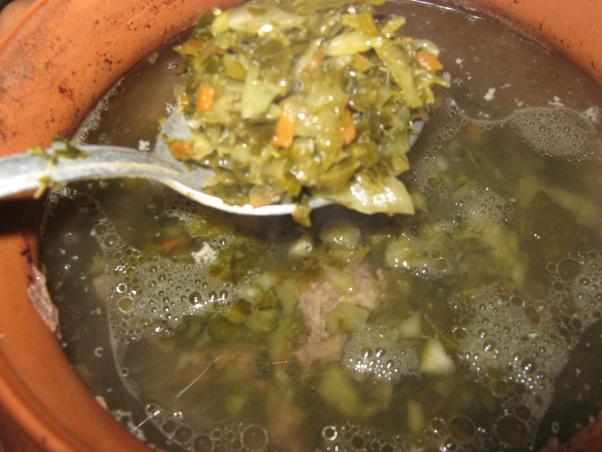Рецепт щи из серой капусты