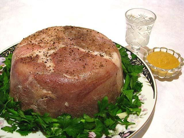 Свиная голова мясо рецепт с фото